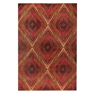 M.A.Trading Hand-woven Lansing Red/Multi (4'x6')