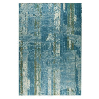 M.A.Trading Hand-woven Hayward Light Blue/Beige (4'x6')