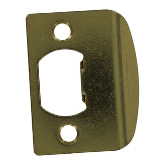 Kwikset 83437-002 Polished Brass Standard Lockset Strikes