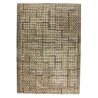 M.A.Trading Hand-woven Burbank Dark Brown (4'x6')