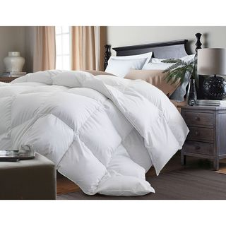 Hotel Grand 400 Thread Count Egyptian Cotton Oversized White Goose Down Comforter