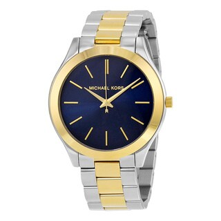 Michael Kors Women's MK3479 Slim Runway Blue Watch
