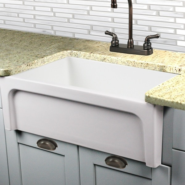 Highpoint Collection Decorative Farmhouse Fireclay Sink and Oil Rubbed Bronze