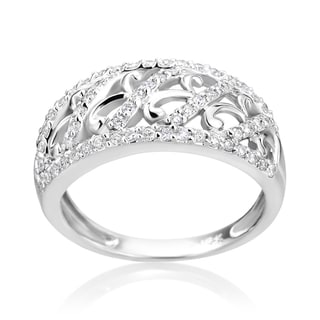SummerRose 14k White Gold 1/2ct TDW Diamond Fancy Ring