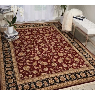 Nourison Royalty Burgundy Area Rug (7'9 x 9'9)