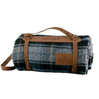 Pendleton Motor Robe Lost Lake Plaid with Leather Carrier