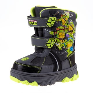 Nickelodeon Boys' Ninja Turtles Grey Snow Boots