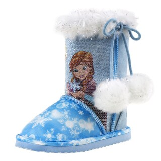 Disney Girls' Frozen Faux-fur Winter Boots