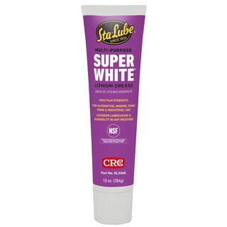 CRC SL3360 10 Oz Multi Purpose Super White Lithium Grease