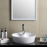 Fine Fixtures White Vitreous China Round Modern Vessel Bathroom Sink