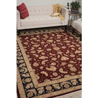 Nourison Royalty Burgundy Area Rug - 8'6 x 11'6