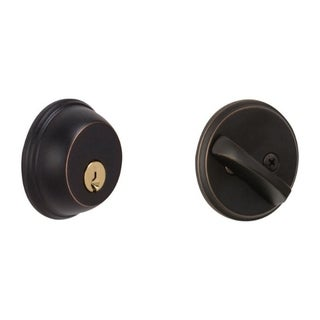 Schlage B60NV716 Aged Bronze Single Cylinder Deadbolt