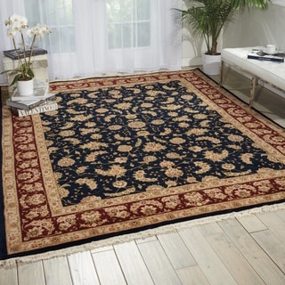 Nourison Royalty Navy Area Rug (7'9 x 9'9)