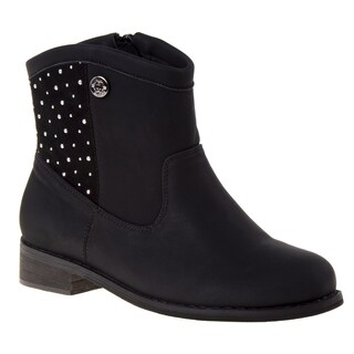 Nanette Lepore Girls' Faux Suede Studded Ankle Boots