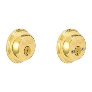 Schlage B62NV605 Bright Brass Double Cylinder Deadbolt