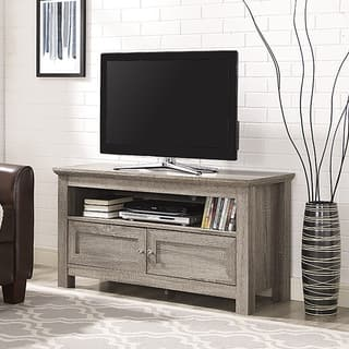 tv stand for living room. 44 inch Wood TV Stand  Driftwood Stands Living Room Furniture For Less Overstock com