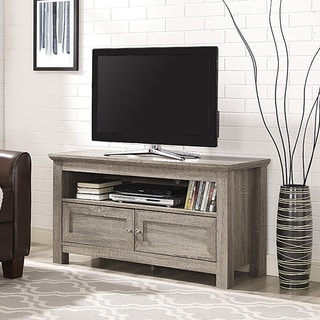 44 Inch Wood TV Stand   Driftwood Part 45