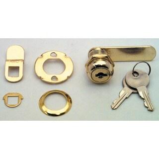 "Prime Line U9944 7/8"" Brass Drawer & Cabinet Lock"