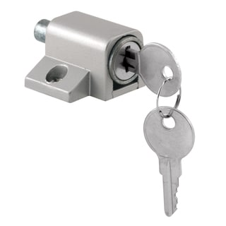 "Prime Line U9861 1-3/4"" Gray Diecast Patio Door Lock"