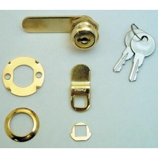 "Prime Line U9942 5/8"" Brass Drawer & Cabinet Lock"