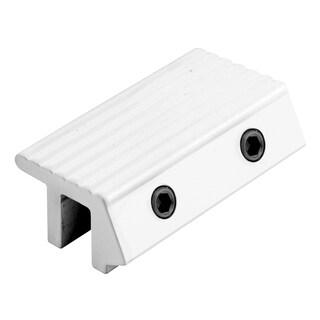 """Prime Line U9817 2"""" White Aluminum Tamper-Resistant Patio Door Lock"""