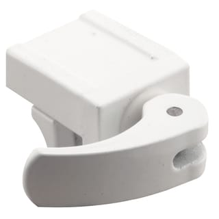 "Prime Line U9809 1-13/16"" White Diecast Vinyl Window Lock 2-count"
