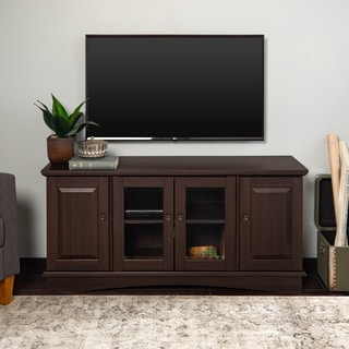Modern 52-inch Brown Wood TV Stand