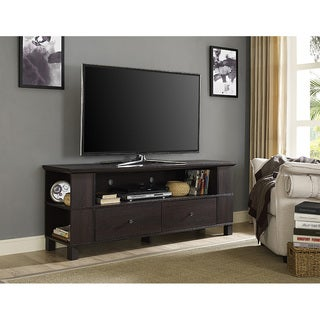 60-inch Brown Wood Storage TV Stand