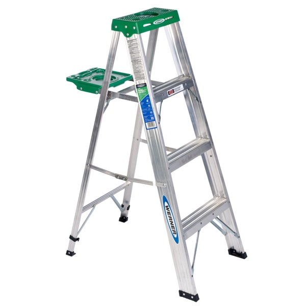 Werner 354 4 Aluminum Stepladder Free Shipping Today