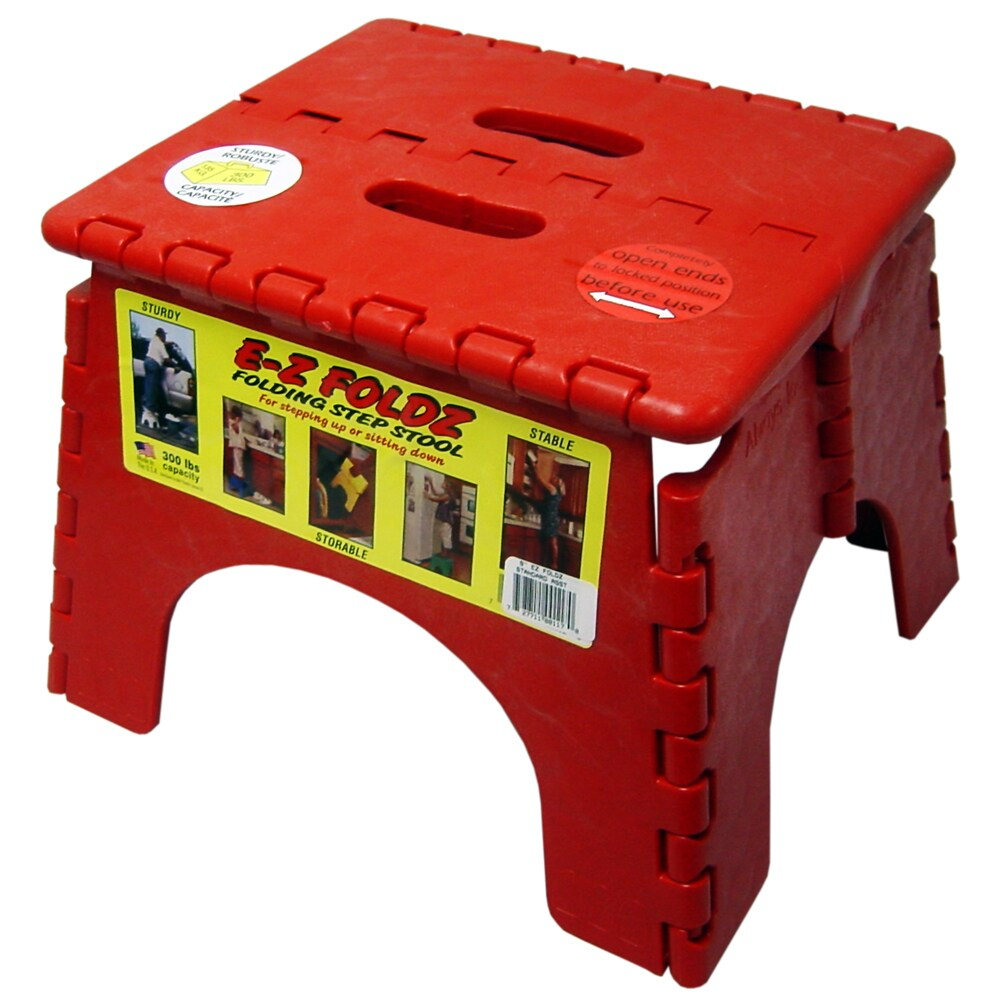 Red HOUSE 2 HOME 12.5 Folding Step Stool