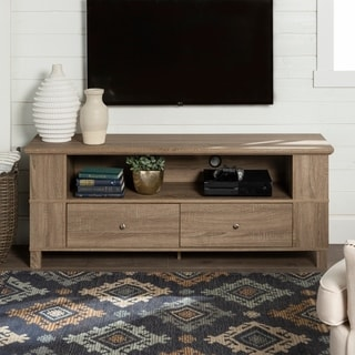 60-inch Wood Storage TV Stand - Driftwood