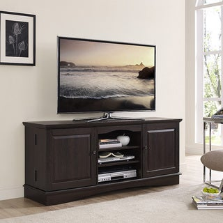 60-inch Espresso Wood TV Stand