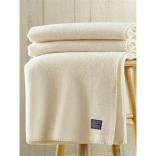 Pendleton Eco-Wise Wool Solid Off White Blanket
