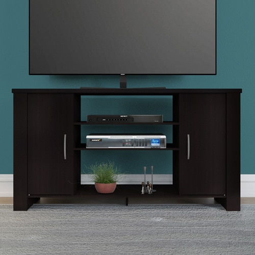 Porch Den East Village Tompkins Espresso Finish Tv Stand Entertainment Center