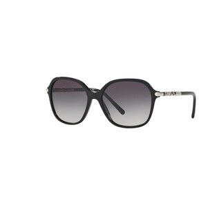 Burberry Women's BE4228 30018G Black Plastic Irregular Sunglasses w/ 57mm Lens