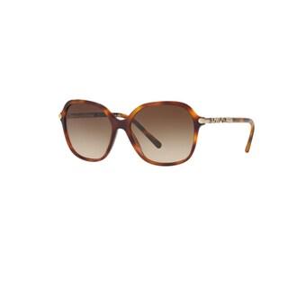 Burberry Women's BE4228 331613 Light Havana Plastic Irregular Sunglasses w/ 57mm Lens