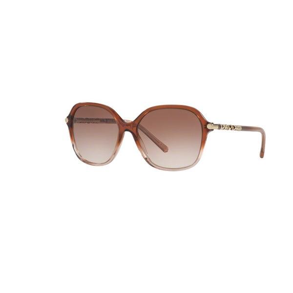 8a0946560d Burberry Women  x27 s BE4228 360813 Brown Gradient Pink Plastic Irregular  Sunglasses w