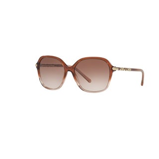 Burberry Women's BE4228 360813 Brown Gradient Pink Plastic Irregular Sunglasses w/ 57mm Lens