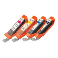 4pk Replacement Black, Cyan, Magenta & Yellow Toner Ink Cartridge, Fits Canon Printers, Compatible with Part CLI-251XL