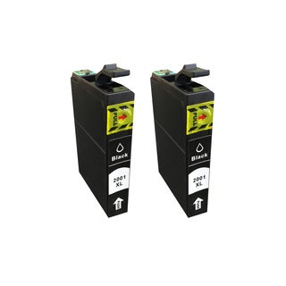 Think Crucial Replacement Black Toner Ink Cartridges for Epson 200 XL Inkjet Printer (Pack of 2)