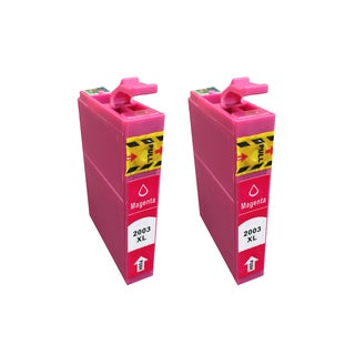 Think Crucial 2PK Replacement Magenta Toner Ink Cartridges for Epson 200 XL Inkjet Printer