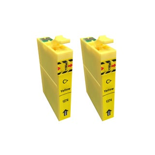 Replacement Yellow Toner Ink Cartridge (Fits Epson 127, Set of 2)