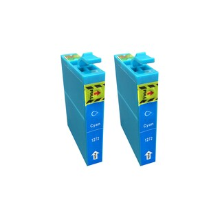 2pk Replacement Cyan Toner Ink Cartridges, Fits Epson 127, Compatible with Part T127120