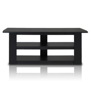 Furinno Parsons Black/Grey MDF 42-inch TV Entertainment Center