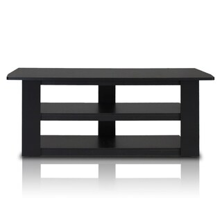 Furinno Parsons Black/Grey MDF 42-inch TV Entertainment Center
