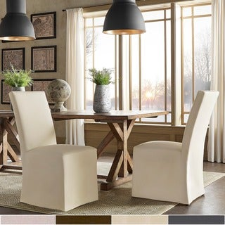 Potomac Slipcovered Parsons Dining Chairs (Set of 2) by iNSPIRE Q Artisan
