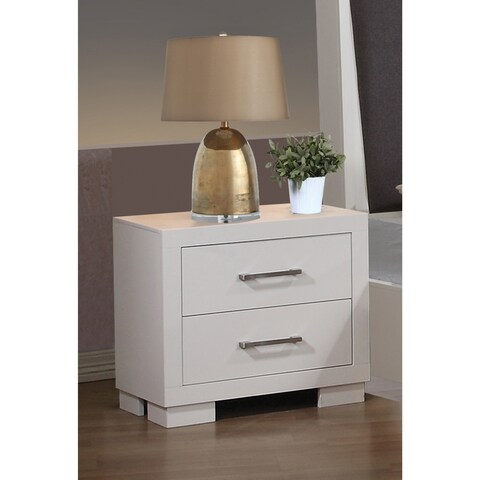 Clay Alder Home Lincoln Hwy White Wood/ Veneer Nightstand