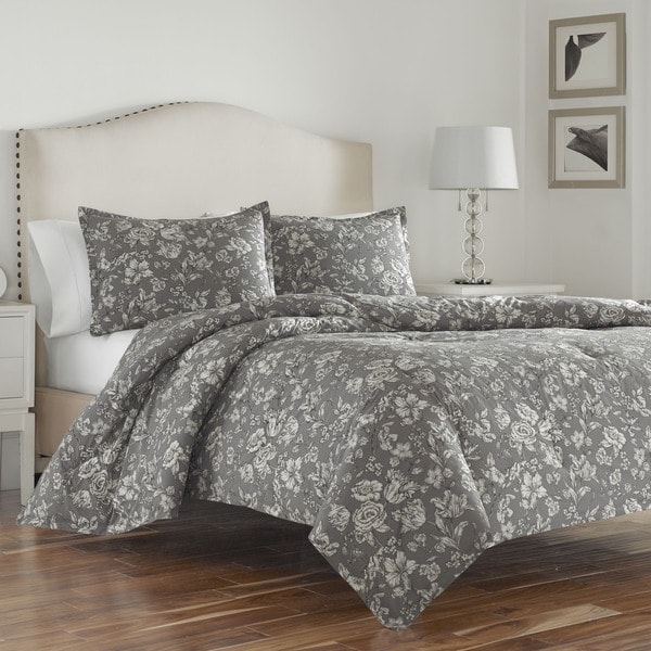Shop Wedgwood Vibrance Grey Cotton Duvet Cover Set Free