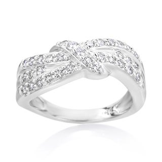 SummerRose 14k White Gold 5/8ct TDW Diamond Bands (I-J, SI2-I1)