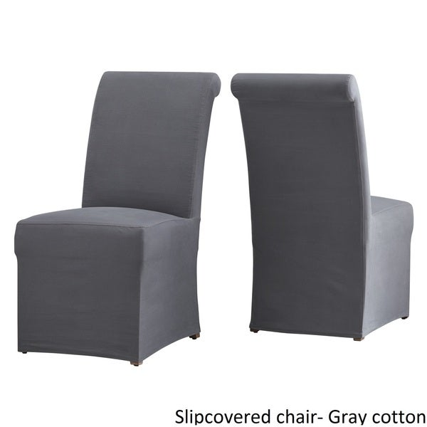 Potomac Slipcovered Rolled Back Parsons Chairs (Set Of 2) By INSPIRE Q  Artisan   Free Shipping Today   Overstock.com   19309992